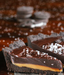 Salted Caramel Dark Chocolate Pie