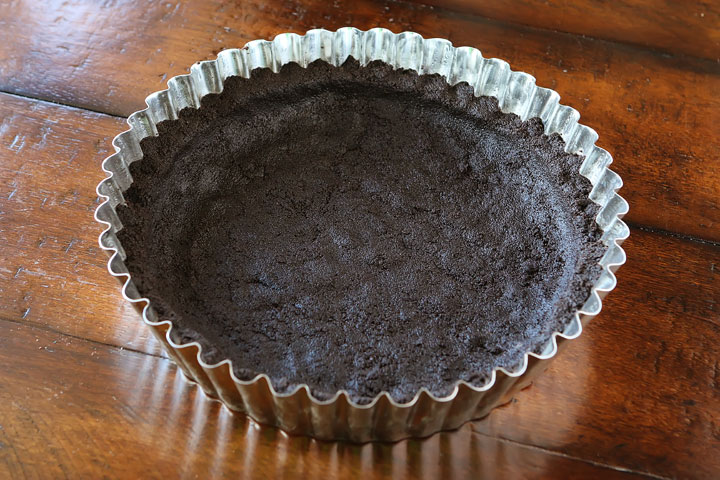 Oreo Cookie Crust for Salted Caramel Dark Chocolate Pie — The BEST Chocolate Pie Ever!!