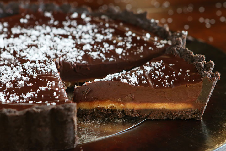 Salted Caramel Dark Chocolate Pie — The BEST Chocolate Pie Ever!!