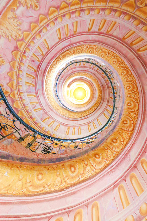 Pink Staircase at Melk Abbey