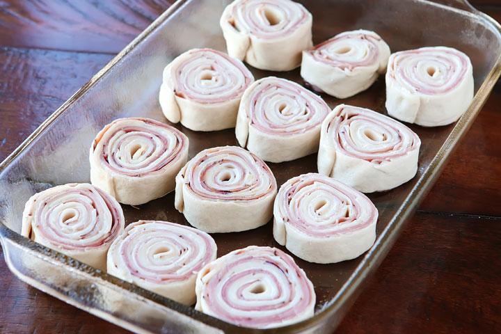 Hot Ham And Cheese Pinwheels — The Best Hot Ham Roll Ups Recipe!!
