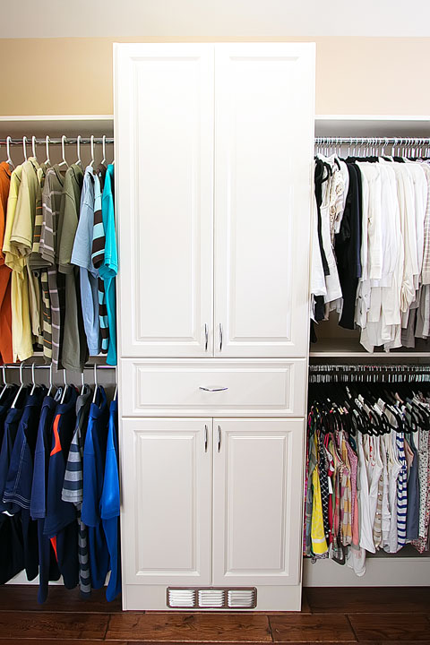 Dream Walk-in Closet Makeover. Wait til you see what's behind those doors!!