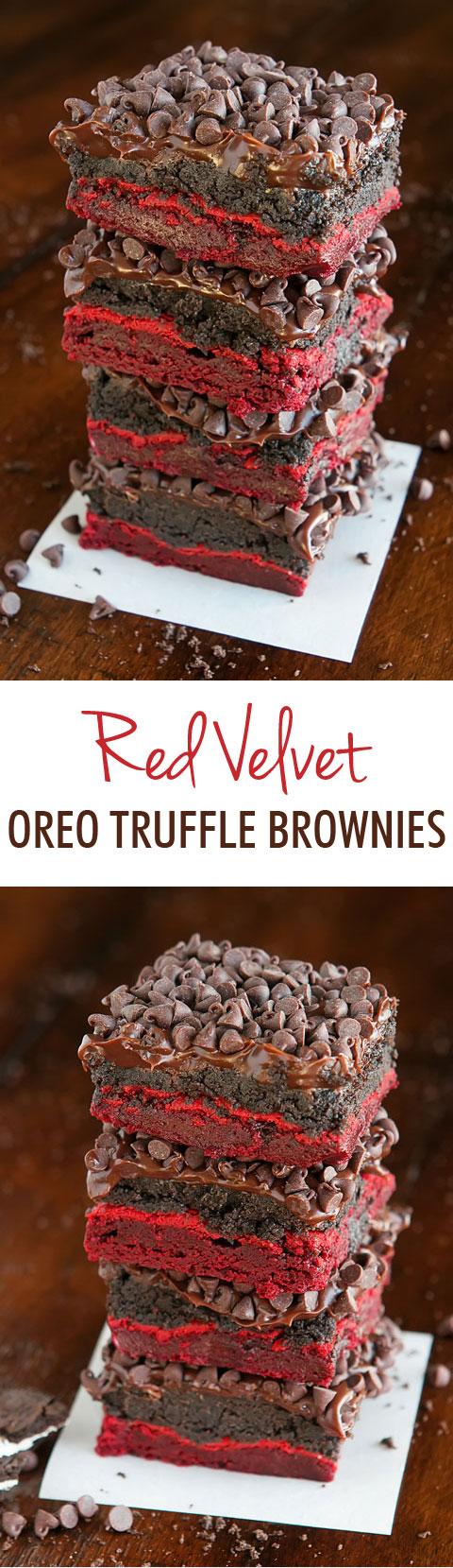Red Velvet Brownies — The BEST Red Velvet Cake Mix Brownies Ever!!