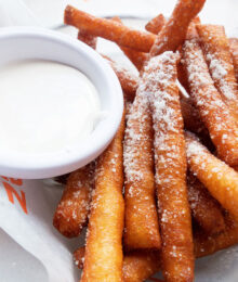 Image of Funnel Cake Fries and Marshmallow Dipping Sauce
