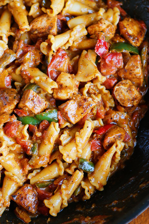 Chicken Fajita Pasta - The Best Chicken Pasta Recipes!