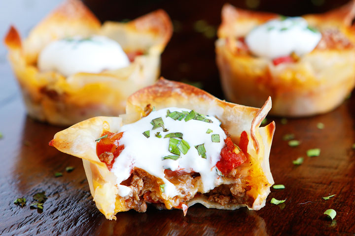 Crunchy Taco Cups — The Best Taco Recipe for Wonton Tacos!