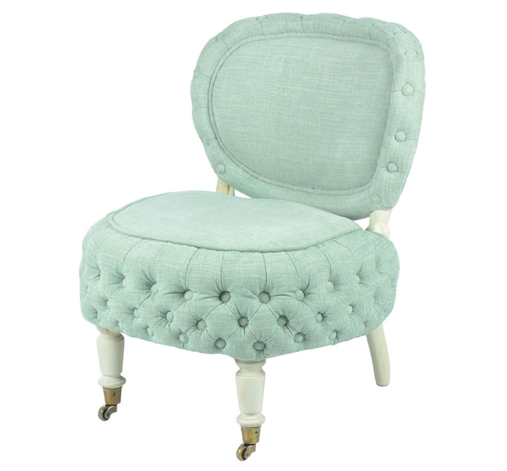 Dot and Bo Creme de Menthe Chair