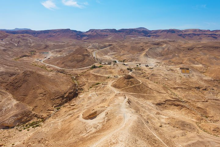 A list of the MUST-SEE most famous historical sites in Israel, including: Caesarea, where King Herod lived in Biblical times, The Hanging Gardens at Haifa, The Sea of Galilee (where Jesus walked on water) and Masada.