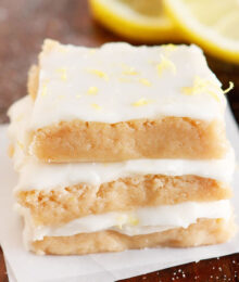 Image of a Brown Butter Frosted Lemon Square