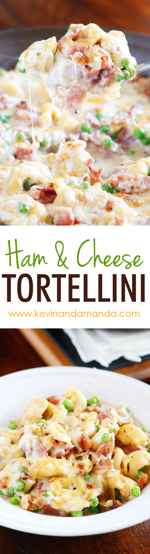 Ham and Cheese Tortellini with Garlic Butter Sauce Recipe