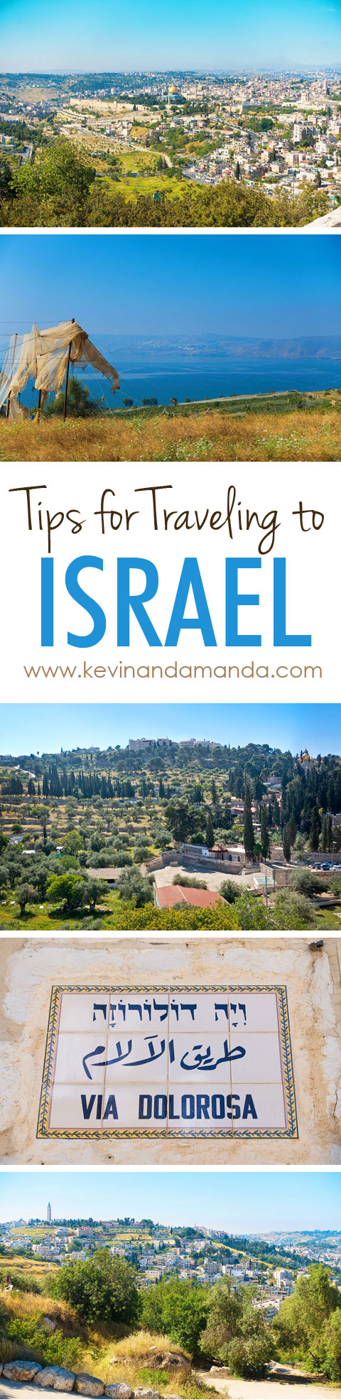 A checklist for the must-see Most Holy Places in Jerusalem, including The Sea of Galilee, the Via Dolorosa, Mount of Olives, Garden of Gethsemane, Church of the Holy Sepulcher. Tips for Traveling to Israel + Where to Eat and Where to Stay in Jerusalem.