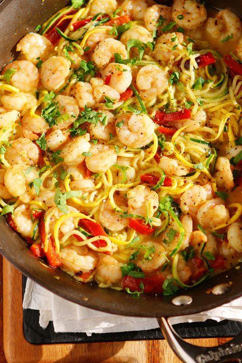 Honey Garlic Shrimp Pasta Recipe