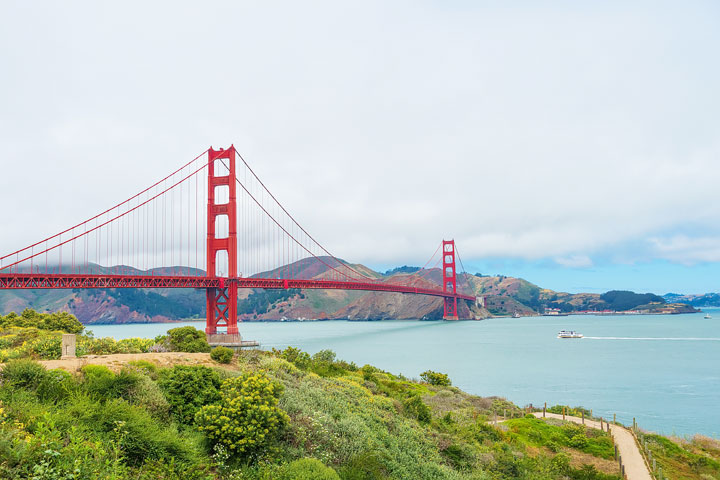 Best View Of Golden Gate Bridge — Presidio Of San Francisco