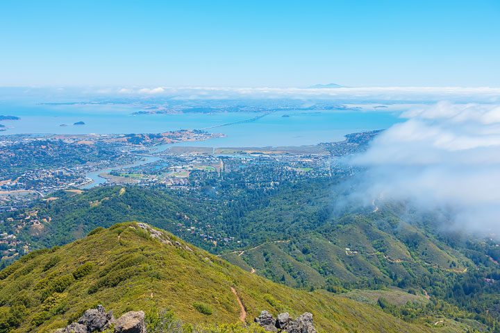 View of San Quentin from Mount Tamalpais East Peak