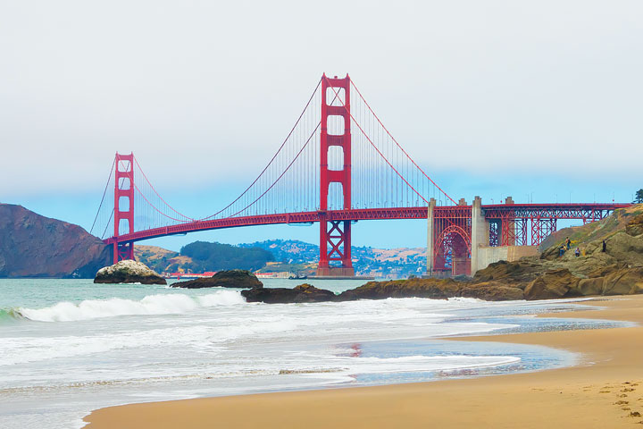 Best View Of Golden Gate Bridge #3 -- Baker Beach