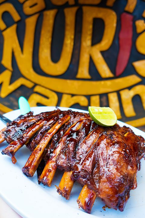 The BEST smoked ribs I have ever had!! Naughty Nuri's in Ubud, Bali