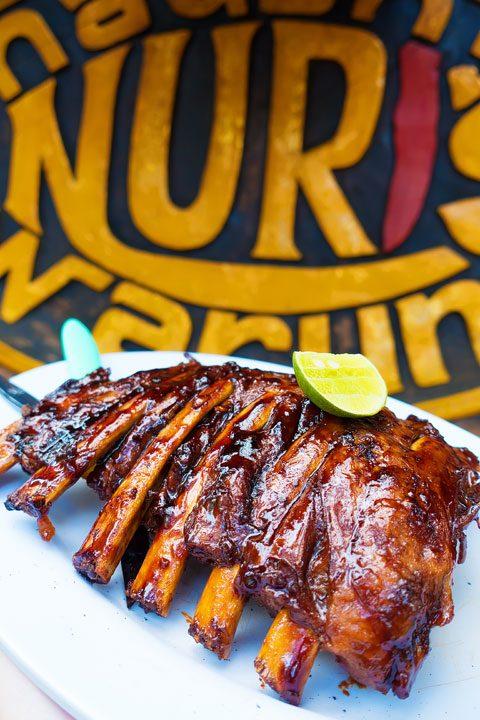 The BEST smoked ribs I have ever had!! Naughty Nuri's in Ubud, Bali