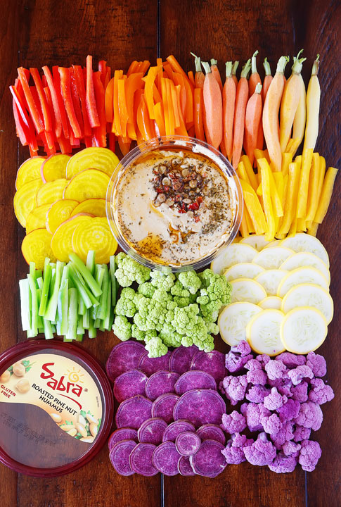 Definitely making this next Rainbow Vegetable Tray for our next get-together!