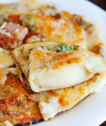 Image of a Ham and Cheese Pierogi