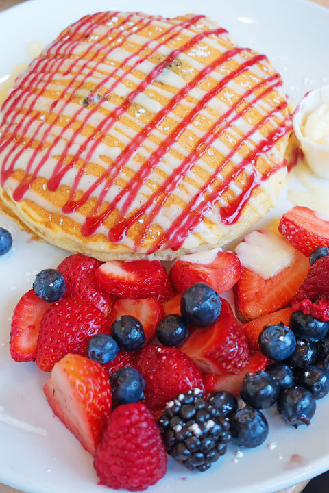 Image of Wildberry Pancakes from Butters Pancakes & Cafe