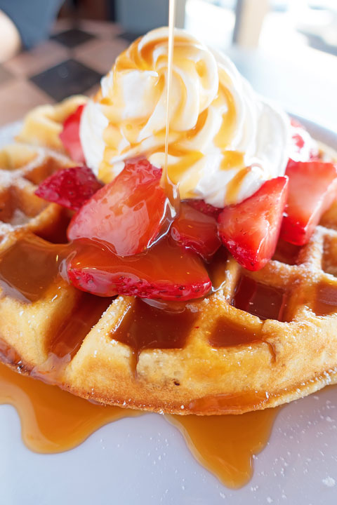 Image of a Belgian Waffle From Sassy's Bakery