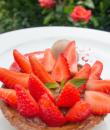 Image of a Swiss Strawberry Dish