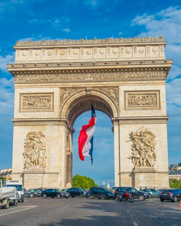 Arc de Triomph In Paris, France