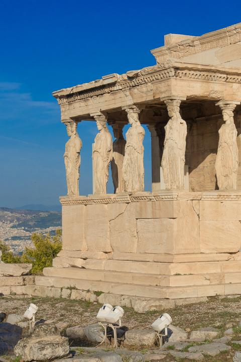 The Erechtheion at the Acropolis of Athens
