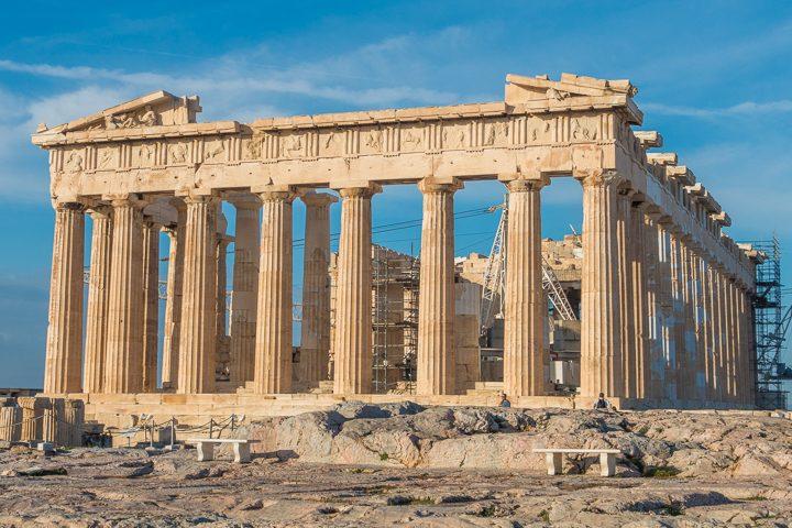 The Parthenon at the Acropolis of Athens