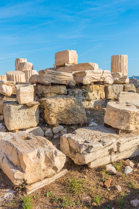 Ruins at the Acropolis of Athens