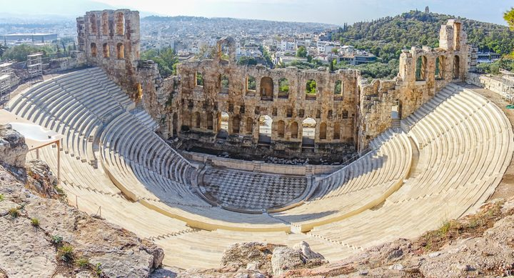 Odeon of Herodes Atticus at the Acropolis of Athens