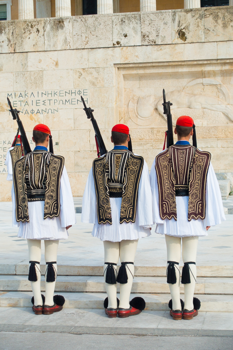 Changing of the Guards at the Greek Parliament Building in Athens Greece