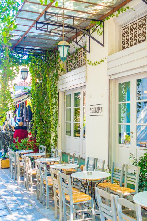 Restaurant in Monastiraki neighborhood in Athens Greece
