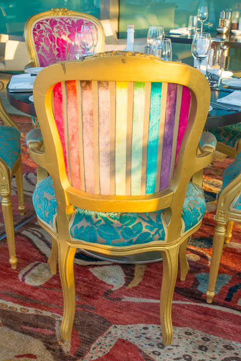 Rainbow Chairs at Galaxy Restaurant in Athens Greece