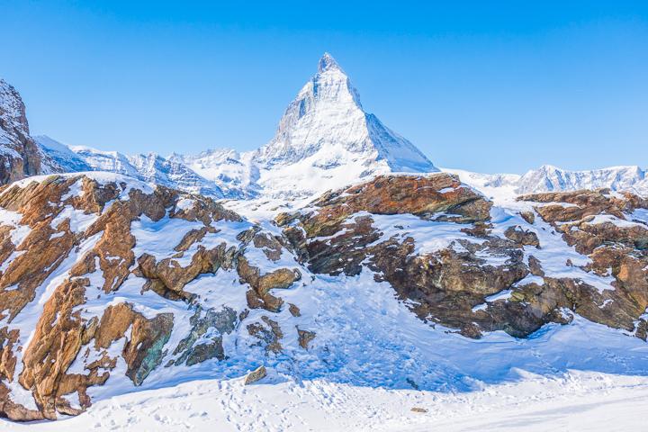 Ultimate Winter Wonderland -- Best skiing in the Swiss Alps!! Ski with a view of the Matterhorn in Zermatt, Switzerland