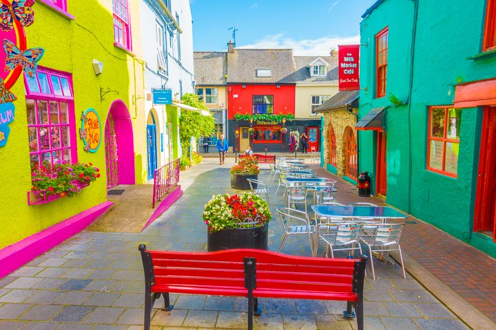 Colorful town in Ireland
