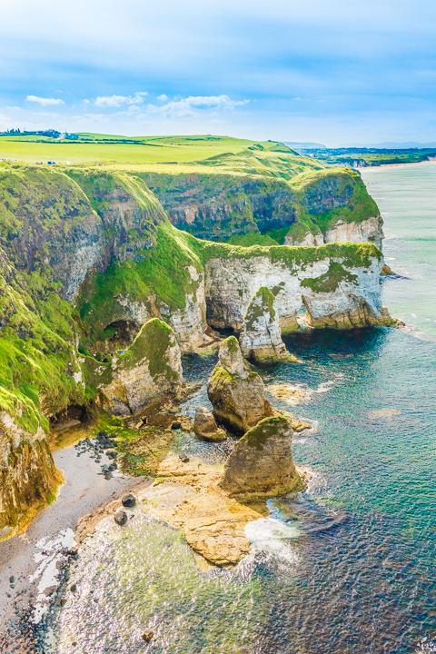 White cliffs on Northern Ireland coast
