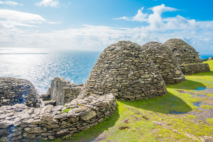 The filming location for the final scene in Star Wars The Force Awakens. Yes, it is a real place!! Skellig Michael, Ireland