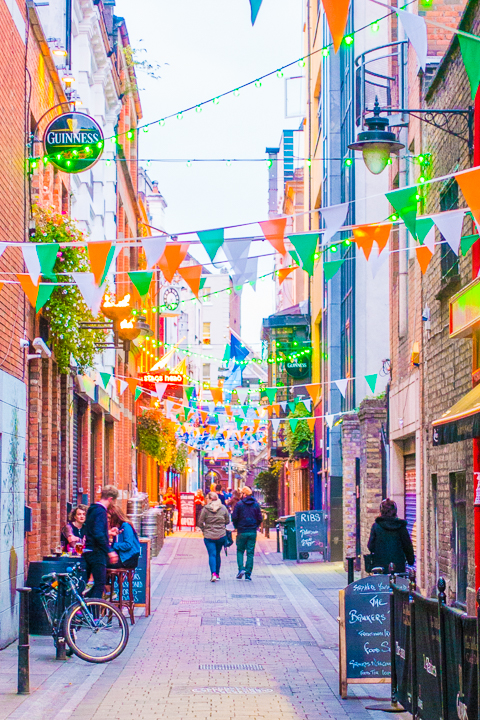 Colorful Street in Dublin