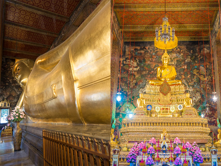 Wat Pho AKA Temple of the Reclining Buddha, Bangkok, Thailand