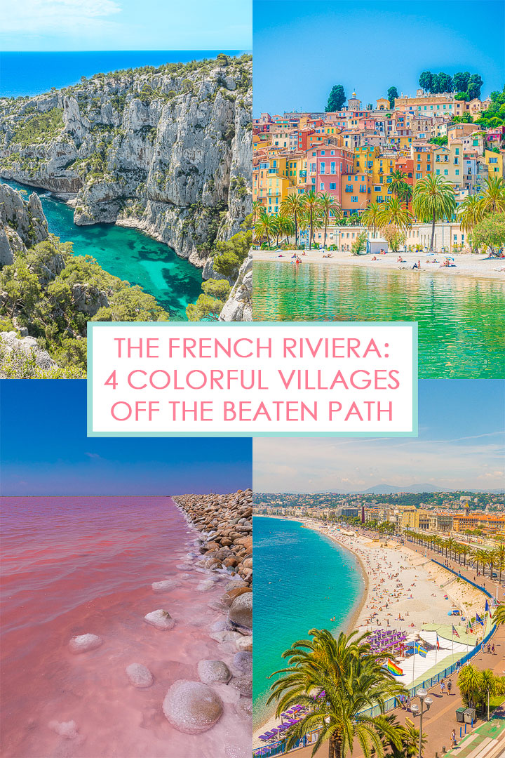 Discover these 4 amazingly beautiful seaside towns off the beaten path that should totally be on your French Riviera bucket list!!