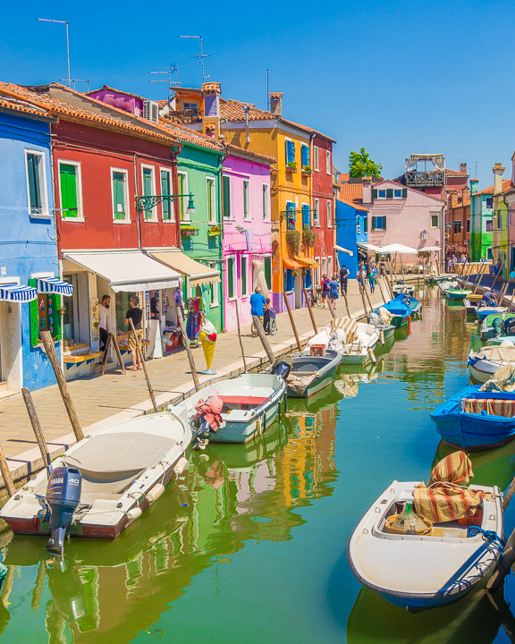 Burano, Italy. The most colorful town in Europe!