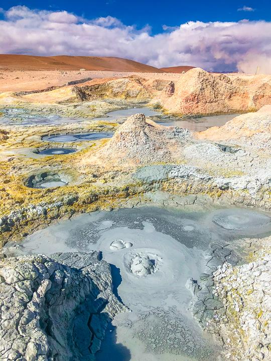 Salt Flats Bolivia — Mud pit at Sol de Mañana near Salar De Uyuni