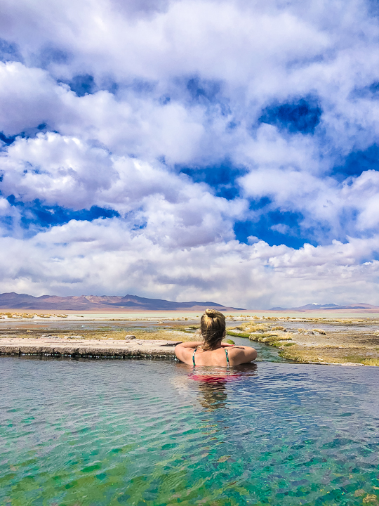Salt Flats Bolivia — Hot Springs at Salar De Uyuni