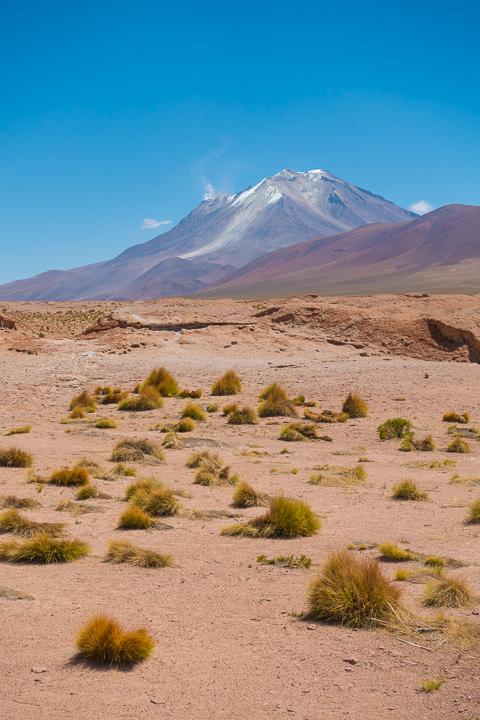Salt Flats Bolivia — Ollague Volcano near Salar De Uyuni