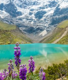 The sacred Humantay Lake, one of the best day trips from Cusco, Peru!