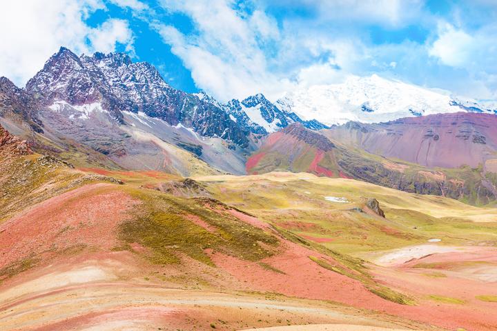 Snow at Rainbow Mountain Peru