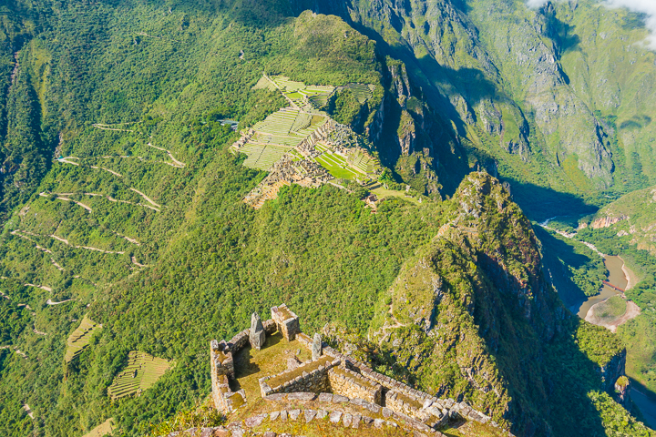 View from the Huayna Picchu hike at Machu Picchu