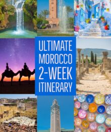 The Ultimate 2-Week Morocco Itinerary! Use this itinerary to get from Marrakesh to Casablanca and see all the best things in Morocco along the way, plus the best way to get there! #marrakesh #casablanca #fes #sahara #desert #chefchaouen #essaouira #asilah #rabat