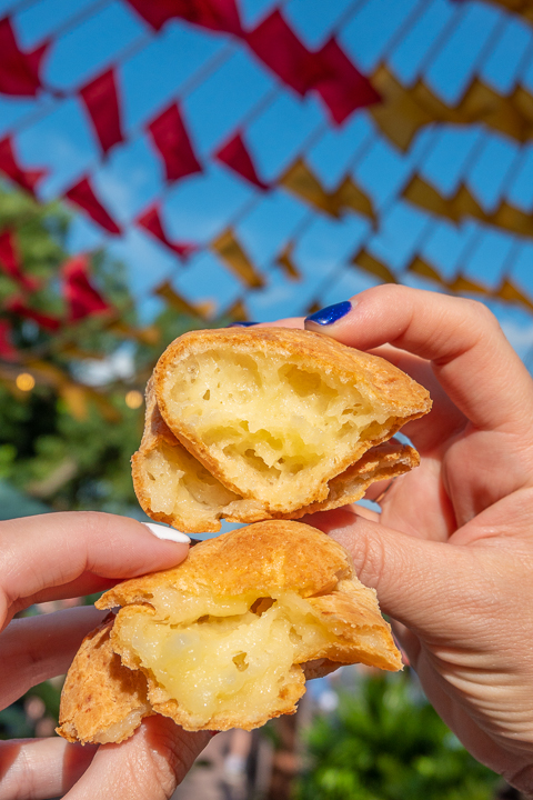 Cheese bread at Epcot Food and Wine Festival